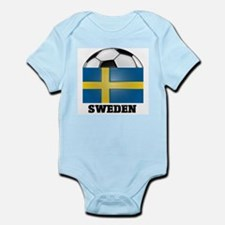 Sweden Soccer Infant Creeper