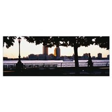 Afternoon Skyline NJ Poster