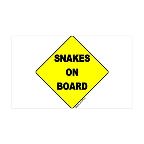 Snakes on Board 38.5 x 24.5 Wall Peel