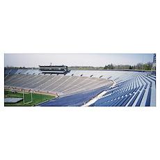 Michigan, Ann Arbor, Empty Football Stadium of Ann Poster