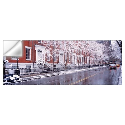 Winter Snow in Washington Square New York NY Wall Decal