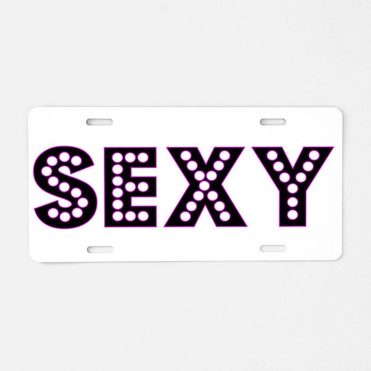 Sexy Aluminum License Plate