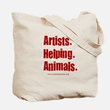 Artists. Helping. Animals 2 Sided Bag. Tote Bag