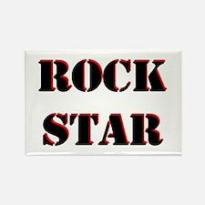 Rock Star Black Rectangle Magnet