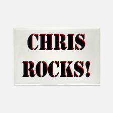 Chris Rocks (Black) Rectangle Magnet