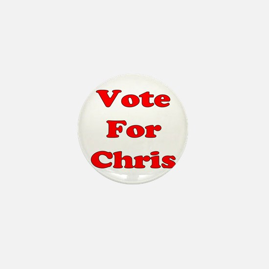 Vote For Chris (Red) Mini Button