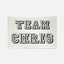 Team Chris Black Rectangle Magnet