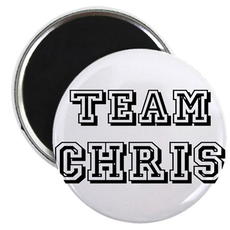 "Team Chris Black 2.25"" Magnet (100 pack)"