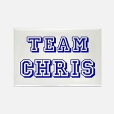 Team Chris Blue Rectangle Magnet