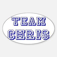 Team Chris Blue Decal