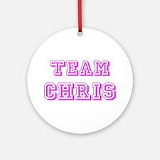 Team Chris Pink Ornament (Round)