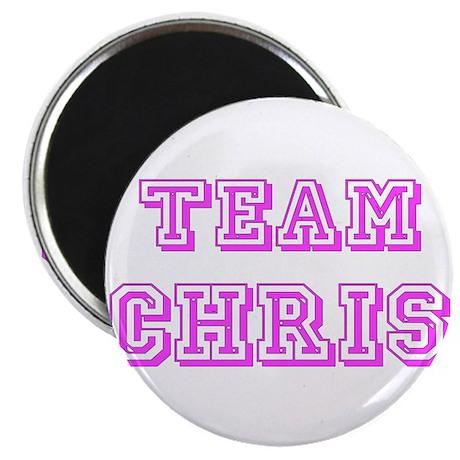 Team Chris Pink Magnet