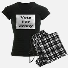Vote for Jenny (Black) Pajamas