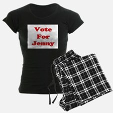 Vote for Jenny (Red) Pajamas