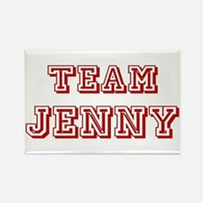 Team Jenny Red Rectangle Magnet