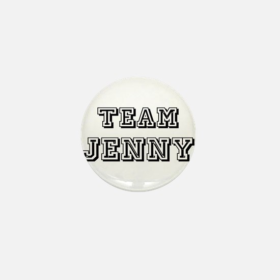 Team Jenny Black Mini Button