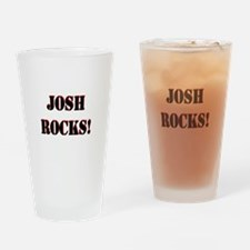 Josh Rocks (Black) Drinking Glass