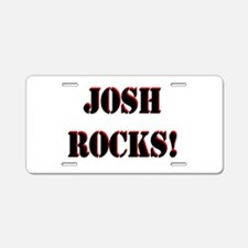 Josh Rocks (Black) Aluminum License Plate