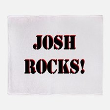 Josh Rocks (Black) Throw Blanket