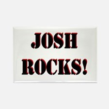 Josh Rocks (Black) Rectangle Magnet