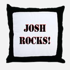 Josh Rocks (Black) Throw Pillow
