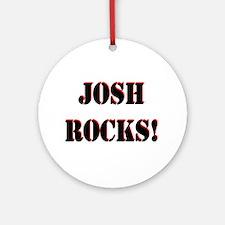 Josh Rocks (Black) Ornament (Round)