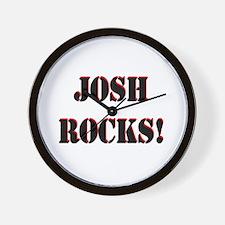Josh Rocks (Black) Wall Clock