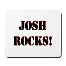 Josh Rocks (Black) Mousepad