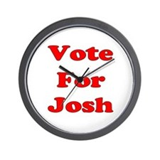 Vote for Josh (Red) Wall Clock