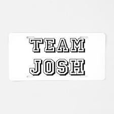 Team Josh Black Aluminum License Plate