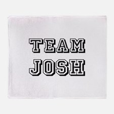 Team Josh Black Throw Blanket