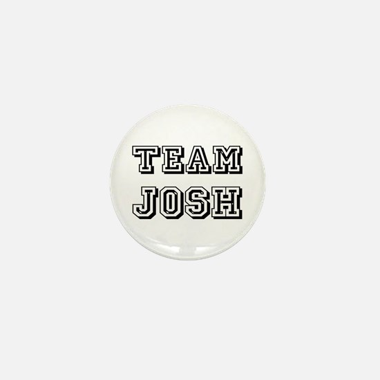 Team Josh Black Mini Button