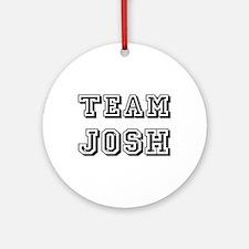 Team Josh Black Ornament (Round)