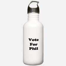 Vote for Phil (Black) Water Bottle