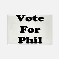 Vote for Phil (Black) Rectangle Magnet