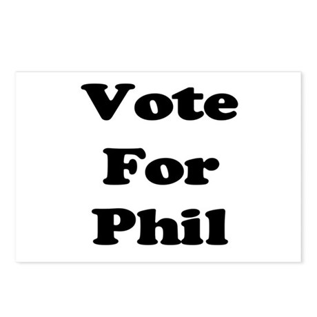 Vote for Phil (Black) Postcards (Package of 8)