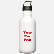 Vote for Phil (Red) Water Bottle