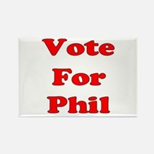 Vote for Phil (Red) Rectangle Magnet
