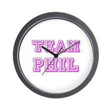 Team Phil Pink Wall Clock