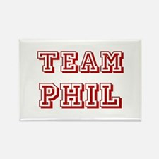 Team Phil Red Rectangle Magnet