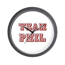 Team Phil Red Wall Clock