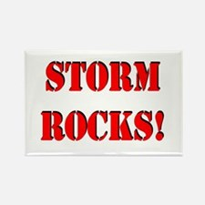 Storm Rocks (Red) Rectangle Magnet