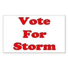Vote for Storm (Red) Decal