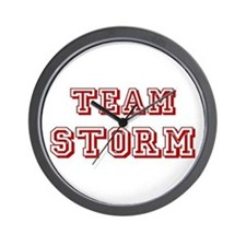 Team Storm Red Wall Clock