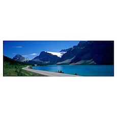 Road Along Bow Lake Alberta Canada Poster