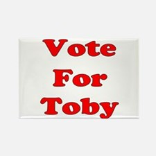 Vote for Toby (Red) Rectangle Magnet