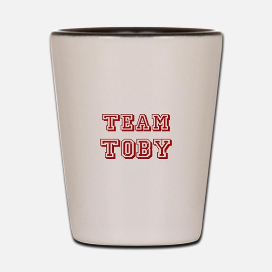 Team Toby Red Shot Glass