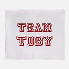 Team Toby Red Throw Blanket