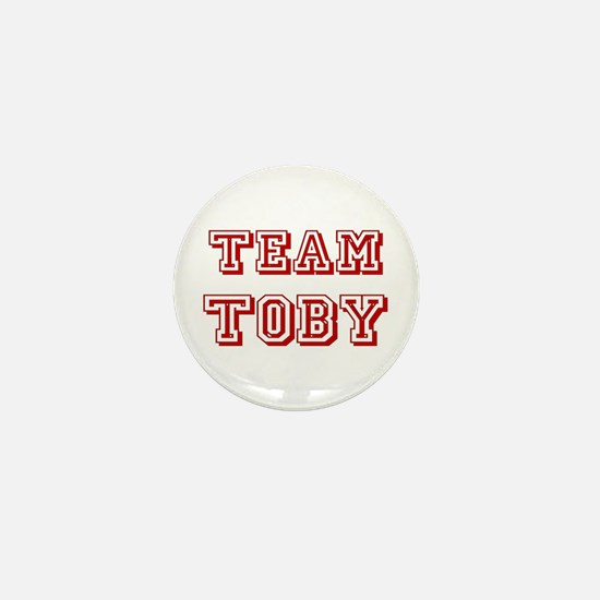 Team Toby Red Mini Button