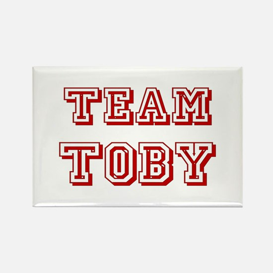 Team Toby Red Rectangle Magnet